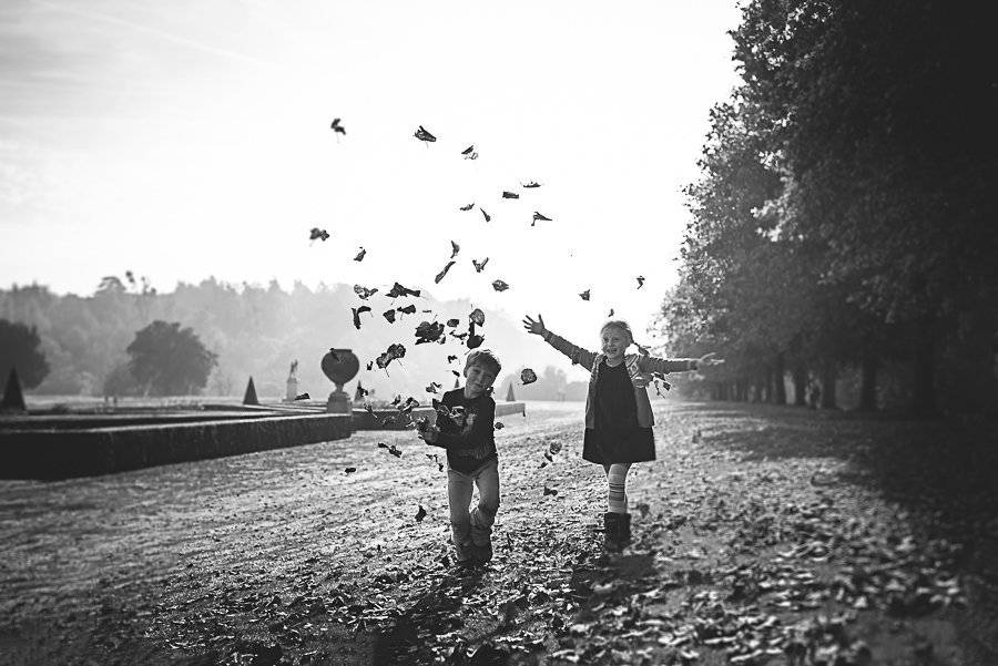 Anna bradley amersham buckinghamshire family fine art photography 8 black and white children autumn